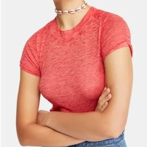 NWT Free People Coral Crewneck Lightweight T-shirt